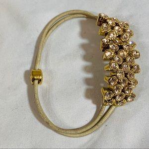 Henri Bendel Stretch Crystal Cluster Bracelet